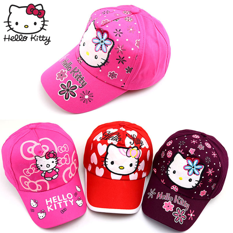 Hello Kitty Summer Baby Girl Princess Hats Baby Boy And Girl 2019 Children 39 s Cartoon hello kitty Cap Cute Outdoor Baseball Caps in Hats amp Caps from Mother amp Kids
