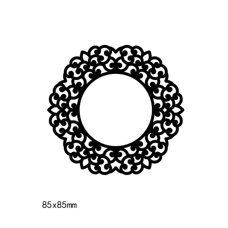 Circle Pattern frames and covers Metal steel Cutting Dies DIY Scrapbook Album Paper Card Crafts Stencil Scrapbooking stamps in Cutting Dies from Home Garden