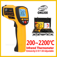 Digital Handheld Gun Non Contact Infrared Thermometer Laser Pyrometer Professional Industrial Temperature Gun GM2200 BENETECH