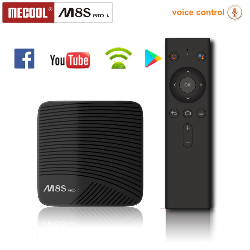Mecool Android TV BOX Amlogic S912 Octa Core 3GB 16 GB/32 GB 4K WIFI H265 HD 3D M8S PRO L Voice Control Android 7.1 VS Android 8.1-in Set-top Boxes van Consumentenelektronica op  Groep 1