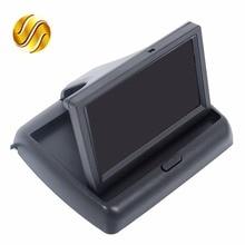 "Coche Monitor de 4.3 ""Color TFT LCD de Pantalla para Cámara de Visión Trasera Plegable 4.3 Pulgadas HD de Pantalla Para El Coche Marcha Atrás"