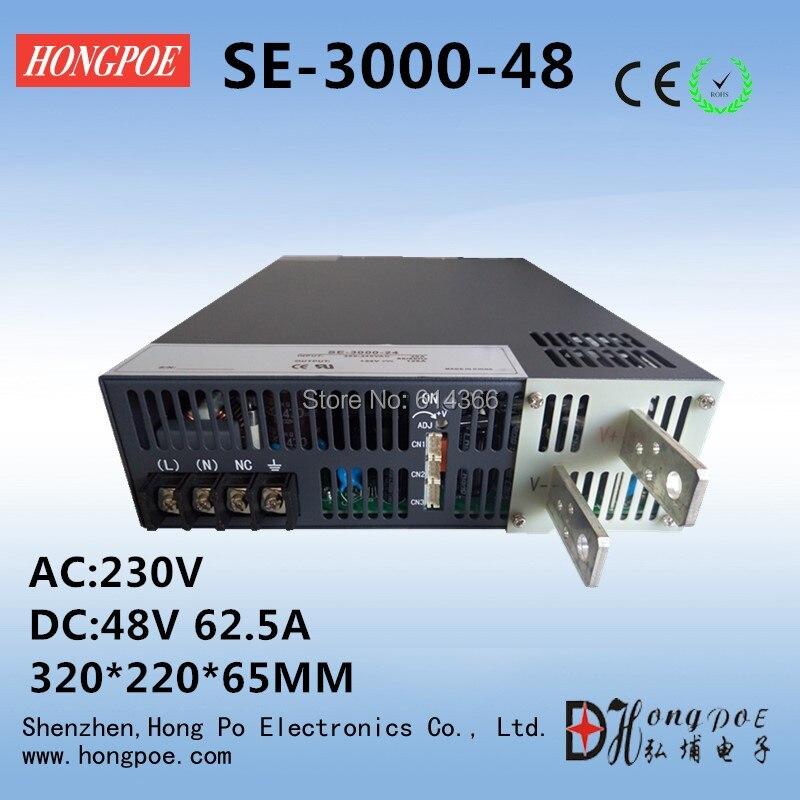 3000W DC 0-48v power supply 48V 62.5A AC-DC High-Power PSU 0-5V analog signal control SE-3000-48V DC48V industrial grade 3000w dc 0 24v power supply 24v 125a ac dc high power psu 0 5v analog signal control n 1