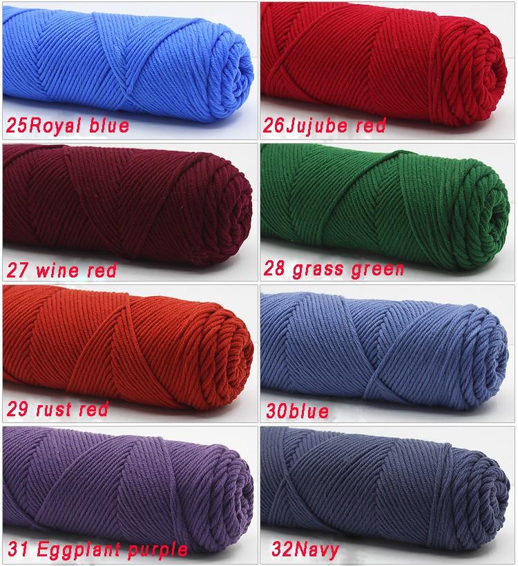 100g/pcs Natural Soft Silk Milk Cotton Yarn Thick Yarn For Knitting Lover Scarves Knitting Wool crochet yarn weave thread 10