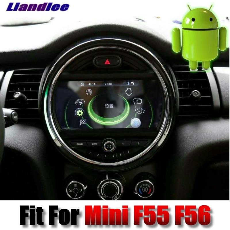 Pour Mini Cooper Trappe F55 F56 2014 ~ 2018 Liandlee système Android Voiture Multimédia iDrive Bouton Autoradio Stéréo navigation GPS