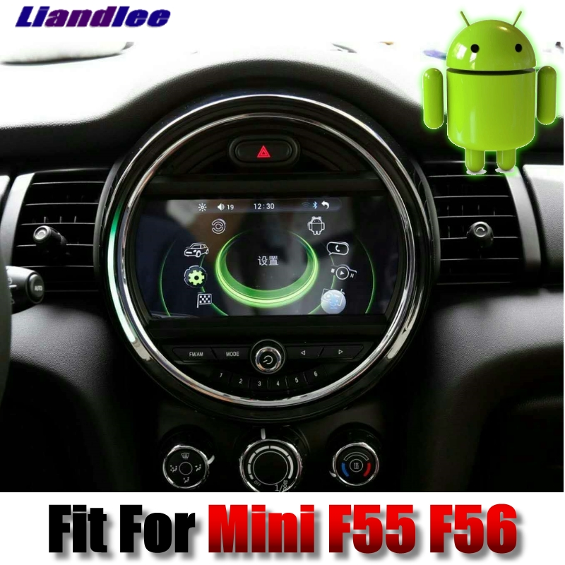 Pour Mini One Cooper Trappe F55 F56 2014 ~ 2018 Liandlee Android système Multimédia De Voiture Bouton iDrive De Voiture Radio Stéréo GPS Navigation