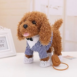 Children Holiday Birthday Gifts Action Figure Electronic Pets Robot Dog toys Bark Stand Walk Teddy Dogs Brinquedos Plsuh dog