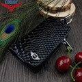 Accesorios del coche de piel de Serpiente de Cuero Auto Del Coche Clave Remoto Caso de la Cubierta titular de la Caja Dominante Del Coche Billetera Bolsa de Llavero Para El Mini Cooper