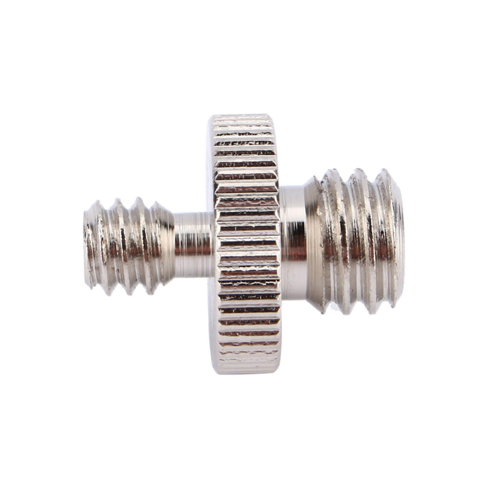 1pcs 1/4 Male to 3/8 Male Threaded Metal Screw Adapter For Camera Tripod Stand DSLR SLR Accessories Camera Accessories metal 1 4 male to 1 4 male 3 8 screw set silver