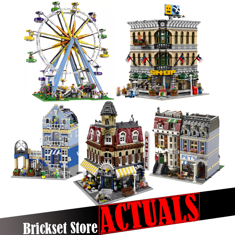 LELE Toy Creators Architecture City Building Blocks Bricks Kids Toys For Children Gifts Compatible 10247 10211 10182 10190 10218 classic lele 30004 grand emporium creator architecture building blocks bricks toys diy for children model compatible with 10211