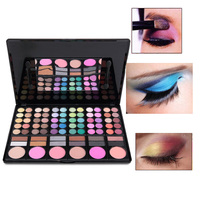 78 Color Eyeshadow Palette With Blush Contour Powder Lip Gloss Fashion Eye Shadow Pallete Make Up