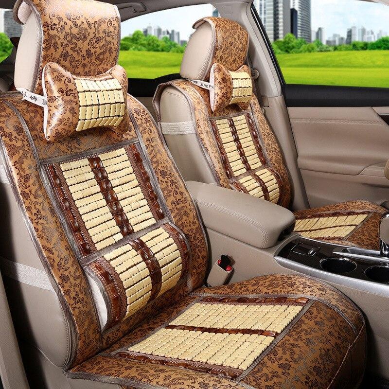 Bamboo seat cushion Car seat cover four seasons universal car bamboo silk summer breathable cool pad - 3