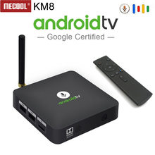 MECOOL Android tv KM8 ATV Google Voice Control Smart TV Android 8.0 Amlogic S905X 2GB DDR3 16GB TV BOX Bluetooth 4.2 Set-Top Box(China)
