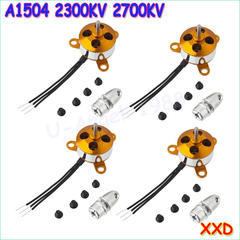 4pcs/lot A1504 2300kv/2700KV 9G Micro Brushless Motor For Mini 4-axis Multicopter/Mini Fixed Wing Airplane