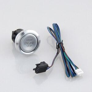 Image 3 - EASYGUARD Silver Start Stop Engine Button Remote Engine Start Optional Keyless Go System with Transponder es002 p3 DC 12V