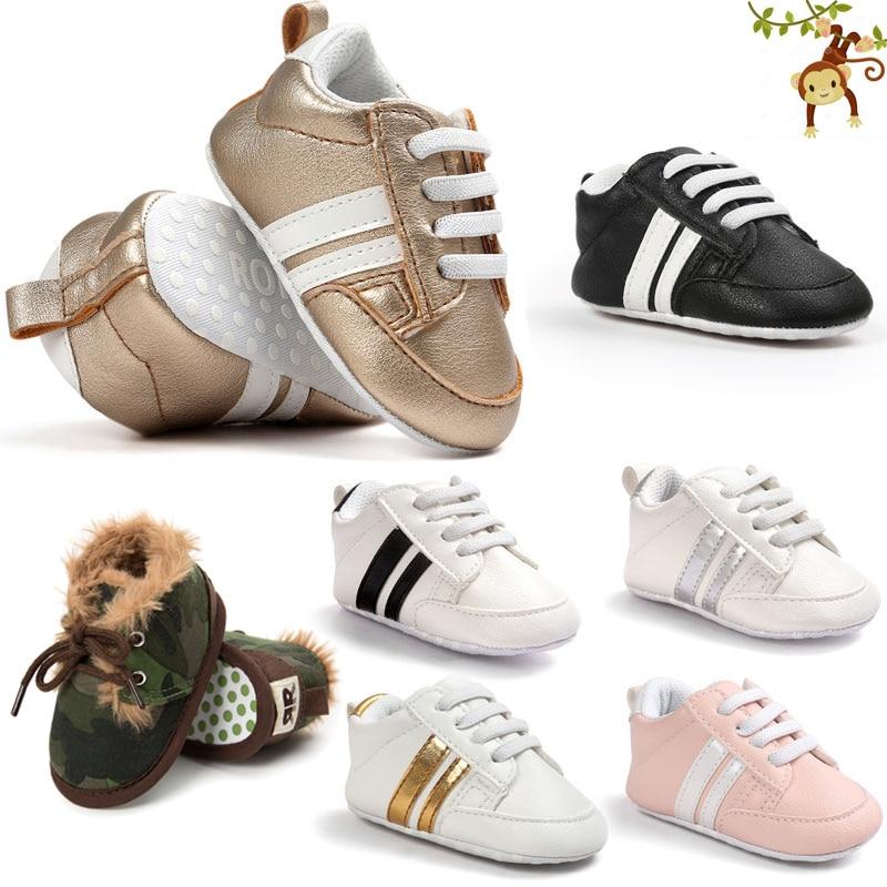 ROMIRUS Boys Baby Girls Miękkie podeszwie sneaker PU skórzane - Buty dziecięce - Zdjęcie 1