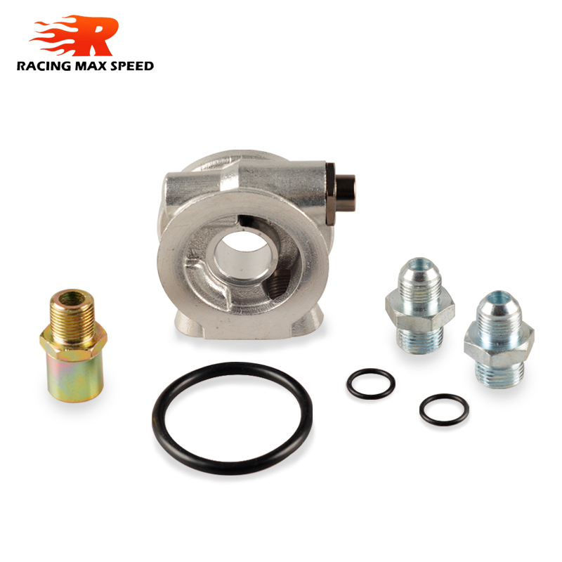 Image 3 - Oil Cooler Sandwich adapter Plate With Thermostat And Adapter Threads AN10 AN8  oil filter adapter SW07-in Oil Coolers from Automobiles & Motorcycles