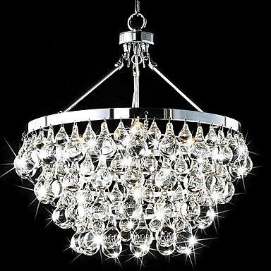 Luminaire LED 5 lumières lampe en Cristal moderne suspension avec gouttes De Cristal, Lustre De Cristal Sala livraison gratuite