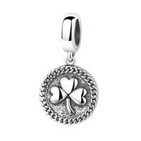 الأزياء خمر سحر سوار 925 فضة العتيقة المجوهرات البرسيم سحر diy صنع المجوهرات اكسسوارات سيدة نساء 1.8 جرام
