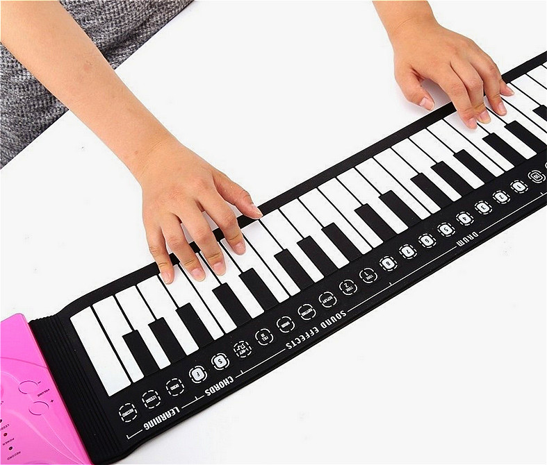 Portable 49 Keys Flexible Roll Up Piano Electronic Soft Keyboard Piano Silicone Rubber Keyboard ABS Plastic KB03 xet 2 4g wireless keyboard folding 107 keys soft silicone rubber waterproof flexible foldable keyboard for laptops pc projector