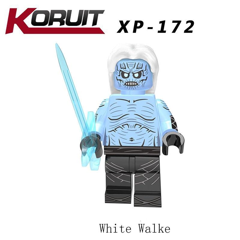 New LegoINGlys Game Of Thrones Figures White Walke Wights Benjen Stark Wights Jeor Mormont Building Blocks Toys Children Gifts