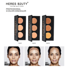 HERES B2UTY 1PC 3Colors Concealer Professional Face Concealer Cream Contour Palette Makeup Moisturizing Highlighter Camouflage