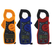 Mini Digital Clamp Multimeter Auto Range Voltage Ampere Meter Test Probe DC/AC Digital Multimeter with Buzzer multimetroAT2195