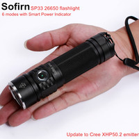 Sofirn SP33 LED Flashlight 18650 Cree XHP50 High Power 2500lm Lamp Torch Light Powerful Flashlight 26650 Waterproof camp cycle