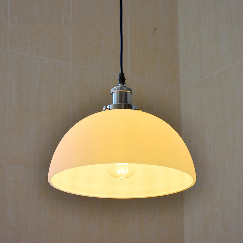 Loft Retro Industrial Style Frosted Plated Glass Chandeliers Restaurant Clothing Store Cafe Simple Nordic Lamps Free Shipping loft modern simple 3d plated colourful