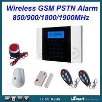 433MHz LCD Touch Keypad Wireless GSM PSTN iHome Intruder Alarm Security System, Free Shipping