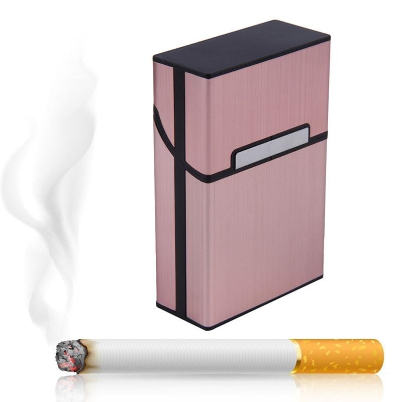 Dropshipping Light Aluminum Storage Storage Cigar Box Tobacco Box Pocket Storage Container  SMJ