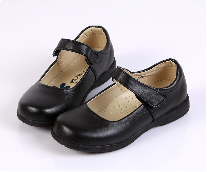 New Black Girls Children Leather Shoes Student show Shoes Kids Girls party dancing soft shoes shoes