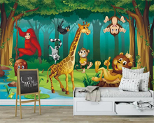 beibehang Custom photo wallpaper mural Fantasy animal forest Cartoon Childrens Room Kids Decorative Painting 3d