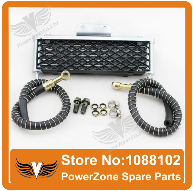 ФОТО High Performance  Motorcycle Oil Cooler Radiator Cooling Parts Fit To ATV Dirt Pit Monkey Bike 110cc 125cc - 140cc Free Shipping