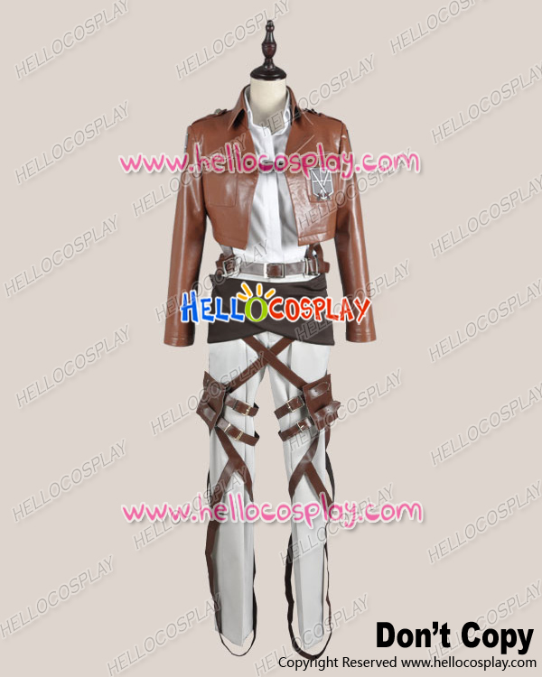 Attack On Titan Shingeki No Kyojin Cosplay Krista Lenz Legion Costume Leather Ver H008