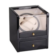US/EU/AU/UK Plug Automatic Watch Winder For Mechanical Watch Box Holder Display Jewelry Storage Watches Case High Gloss Paint стоимость