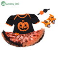 Baby clothes halloween costume for baby Infant Party Dress Tutus newborn jumpsuit baby girl romper wear clothing set+headband