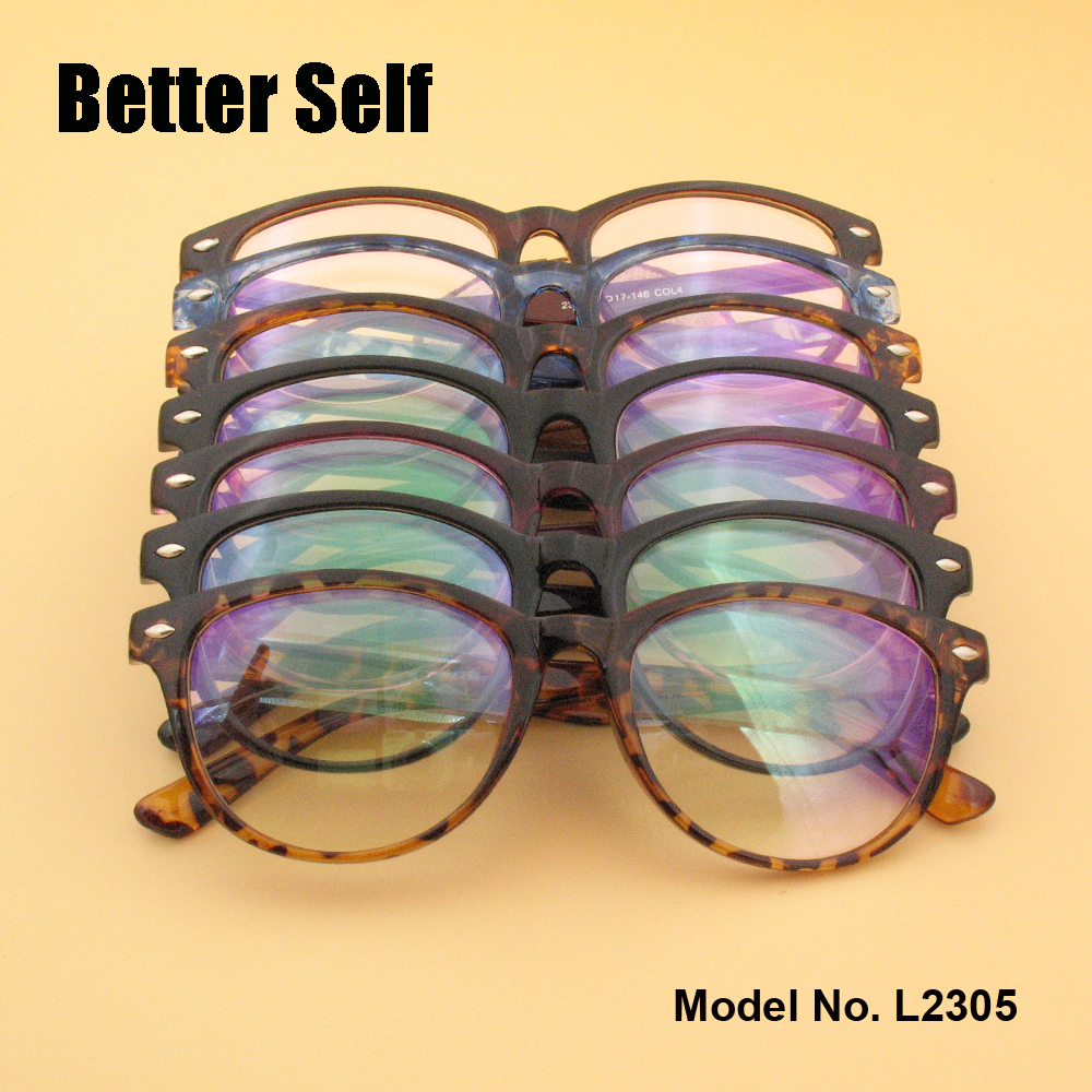 L2305 PC Gafas Gafas de belleza Gafas de estilo retro Gafas de miopía Marcos de gafas de concha