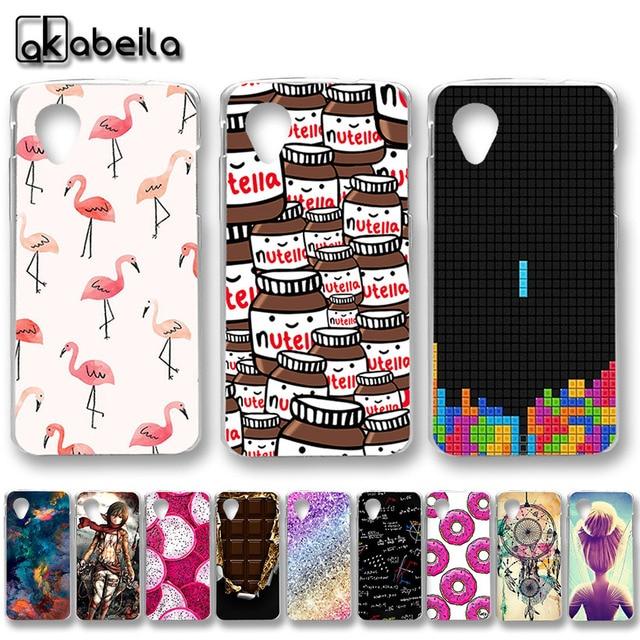 big sale fdad8 ba72a Cases For LG Nexus 5 Cases Silicone Nutella Nexus 5X Stylus 2 3 Q6 Mini Q7  Plus Aristo 2 LV3 K8 Plus 2018 Bello 2 K3 Covers