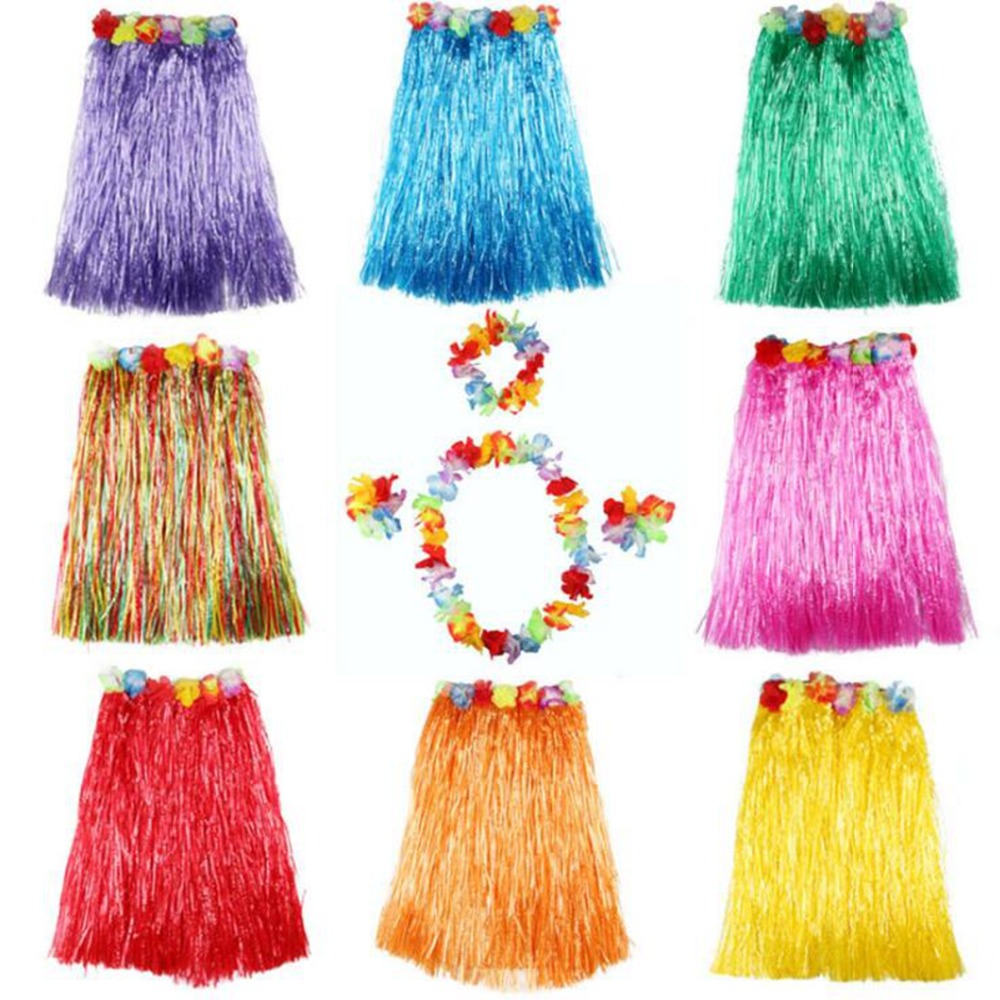 Liviorap Plastic Hawaiian Hula Skirt Grass Hawaiian Party Decor Flower Hawaii Decoration Hula Skirt Party Hawaii Party Supplies in Party DIY Decorations from Home Garden