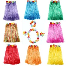 Liviorap Plastic Hawaiian Hula Skirt Grass Party Decor Flower Hawaii Decoration Supplies