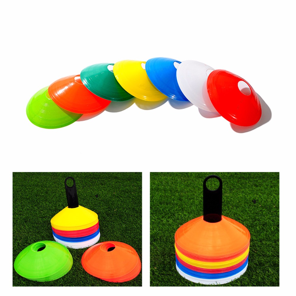New 10pcs/lot 19cm Cones Marker Discs Soccer Football Training Sports Entertainment Accessories