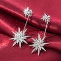 DJM Brilho do Floco De Neve de Qualidade AAA Moda Jóias Marca De Luxo CZ de Casamento Do Diamante Gota Brinco Para As Mulheres (DJ0675)