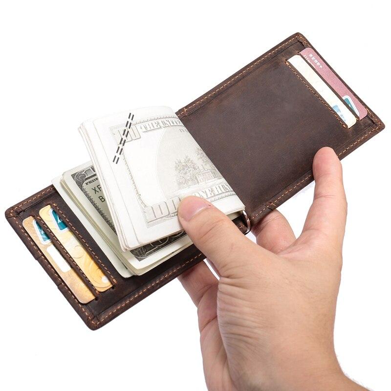 Homme mans portefeuille en cuir cartes de crédit modifier notes zip around poche nouveau