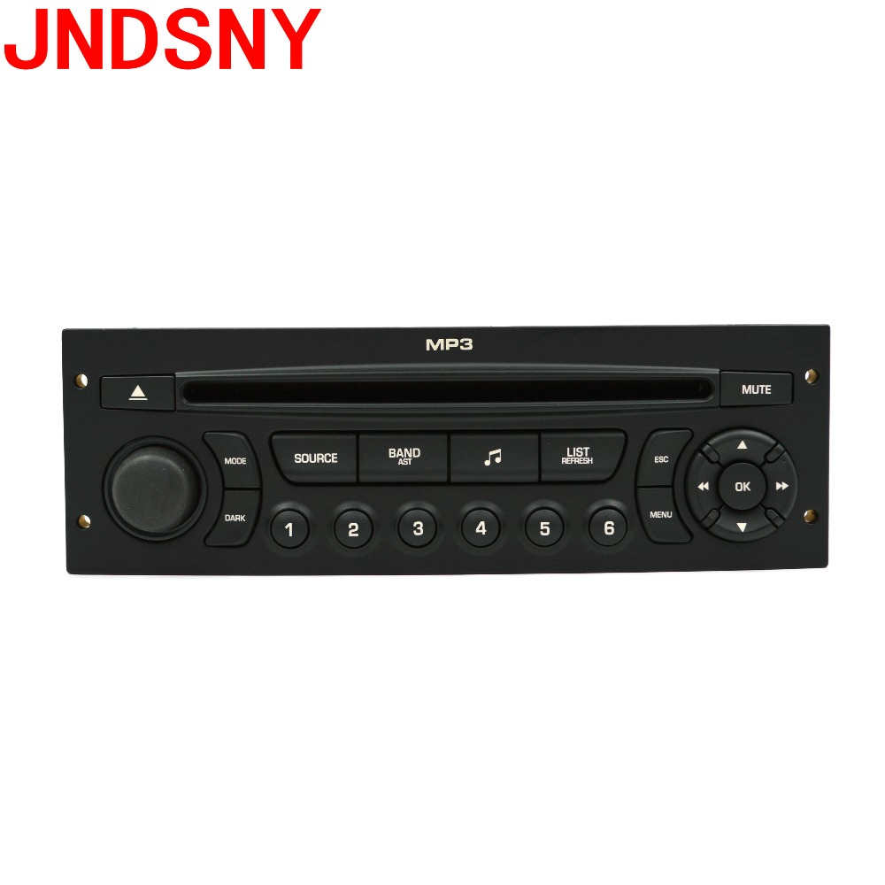 JNDSNY RD43 Car Radio with CD USB aux MP3 for Peugeot 207 206 307 308 408 807 Citroen C2 C3 C4 C5 C8