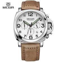 MEGIR Clock Men Top Brand Luxury Quartz Men Watch Big Dial Chronograph Military Watches Luminous Relogio Masculino Saat Erkekle