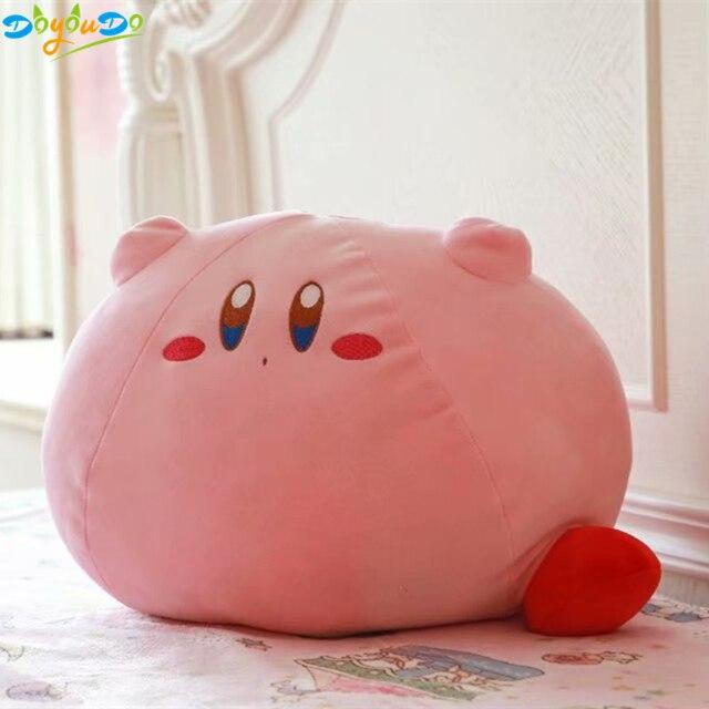 Grande Tamanho 43 cm Jogo Kirby Kirby Rosa Plush Soft Toy Stuffed Boneca de Pelúcia Travesseiro Almofada Dos Desenhos Animados Presente da menina