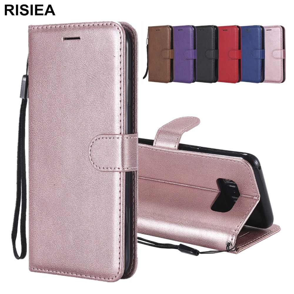 PU Leather Wallet  Cover For Samsung Galaxy S3 S4 S5 S6 S7 Edge S8 S9 S10 E Plus Note 3 4 8 9 C9 Pro Phone Case