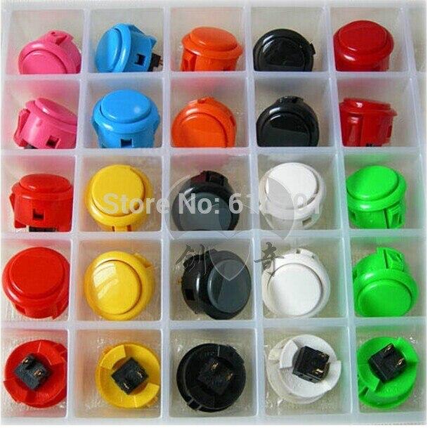2pcs Original Sanwa Push Button OBSF-30 30mm Arcade Jamma Game Joystick Wobble Switch White Black Red Yellow Gray Blue Green VER игрушка ecx ruckus gray blue ecx00013t1