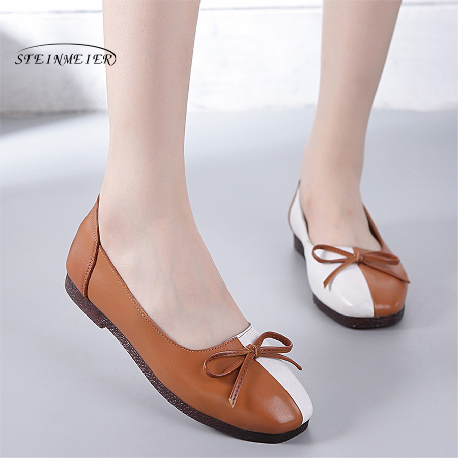 2018 Autumn women ballet flats oxford flat shoes soft leather shoes ladies slip on pregenent black loafers flats boat shoes women shoes women ballet flats shoes for work flats sweet loafers slip on women s pregnant flat shoes oversize boat shoes d35m25