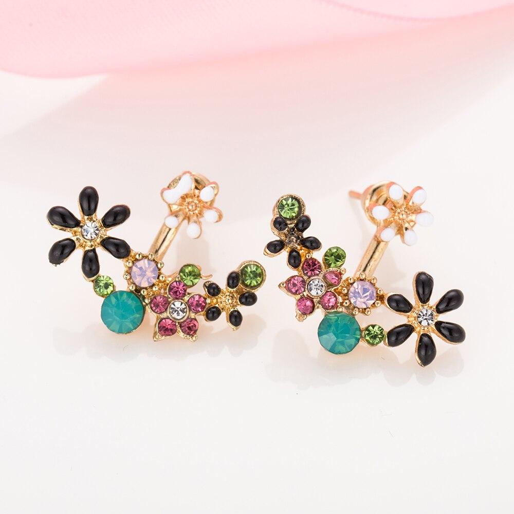 pearl earrings small daisy flowers
